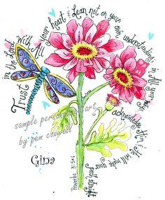Dragonfly and Daisy Print (Proverbs God bless you Shannon. Scripture Art, Bible Art, Bible Scriptures, Bibel Journal, Illustrated Faith, Heart Art, Word Of God, Doodle Art, Bunt