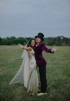 KATE + BARNEY // #wedding #bride #bridal #dress #gown #groom #willywonka #suit #tophat #fun #quirky #northcoast #nsw #photographer #ceremony #reception #realwedding