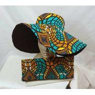 Multicolor sun hat African print Ankara Wax Cotton by LiPaSabyMNK African Inspired Fashion, African Print Fashion, African Fashion Dresses, Ankara Fashion, Africa Fashion, Tribal Fashion, African Prints, African Hats, African Attire