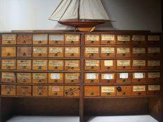 Vintage Hardware Store Bins