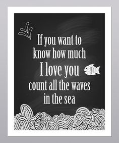 Take a look at this 'All the Waves in the Sea' Print by Posie & Co. on #zulily today!