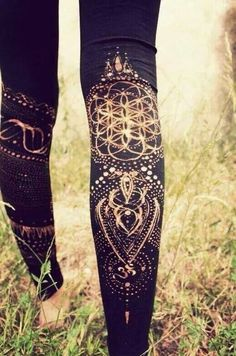 Make your own designs with a bleach pen... Emi will love this