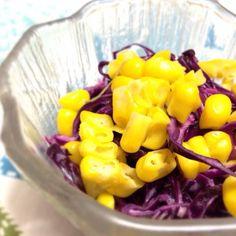 オリーブオイルとリンゴ酢とマヨとマスタード♪ 紫色がすごいことになっちゃったけど笑 - 6件のもぐもぐ - 紫キャベツのコールスロー♪ by ayahoney