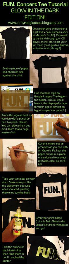 #DIY Glow in the dark #shirt #tutorial