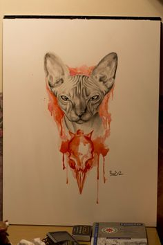 Another awesome sphynx head tattoo