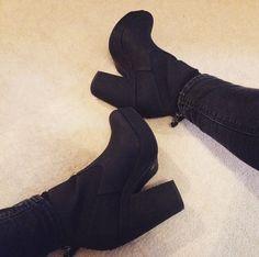 schuh Get Up black heeled ankle boots  @_amyewalker