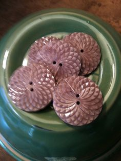 Vintage buttons dark rose 1 set of 6 by LydiaandCompany on Etsy, $6.00