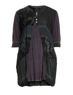 Seidenkleid mit Schleifenapplikation von Manga in Lila / Anthrazit.Seidenkleid mit Schleifenapplikation und andere hochwertige Designerartikel bei navabi.
