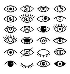 Open and closed eyes images, sleeping eye shapes with eyelash, vector supervision and searching signs - Buy this stock vector and explore similar vectors at Adobe Stock Mini Tattoos, Small Tattoos, Family Tattoos, Couple Tattoos, Ojo Tattoo, Tattoo Moon, Eye Outline, Infected Tattoo, Handpoke Tattoo