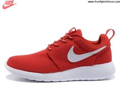 Today's Deals Womens Nike Roshe Run Challenge Red White Volt Shoes Shoes Shop