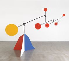 Alexander Calder (July 22, 1898 – November 11, 1976) was an American sculptor best known as the originator of the mobile, a type of kinetic sculpture made with delicately balanced or suspended components which move in response to motor power or air currents. By contrast, Calder's stationary sculptures are called stabiles. He also produced numerous wire figures, notably for a miniature circus.