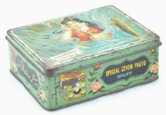 1920s Original Vintage Ad Sign Tin Box Special Seven Photo Snuff | eBay