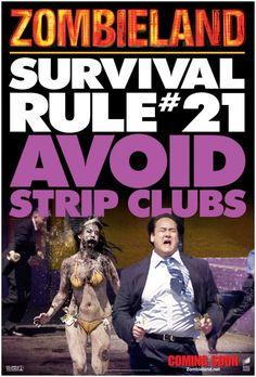 zombieland rule 21 avoid stripclubs Zombieland Rule #21   Avoid Strip Clubs