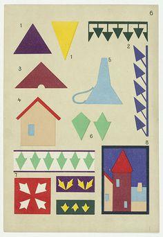 Hans Kappler | découpages enfants, 1920 // vintage kindergarten paper cuts #graphic #kids #MoMA