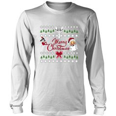 Merry Christmas Unisex District Long Sleeve T-Shirt (9 colors)