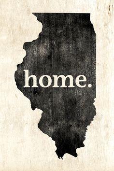 Illinois Home Poster Print