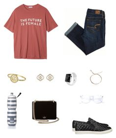 """Y'all read plz"" by trujilloxochitl on Polyvore featuring StyleNanda, American Eagle Outfitters, Alison & Ivy, Kendra Scott, Victoria's Secret, Steve Madden, Dogeared and Kate Spade"