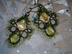 Ohrringe,Peridot in wirework, grün, mint von kunstpause auf DaWanda.com