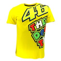 Moto gp valentino rossi vr46 amarillo 46 el doctor camiseta racing motor sport t shirt