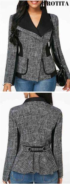 Motifs de coupe superposé court manteau Dubaï taille L 48-50