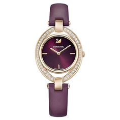 Make a sophisticated choice for your timepiece with the new Stella watch. Gorgeously streamlined and elegant, it is the perfect design for day-to-night wear. The burgundy Find out Stainless Steel Jewelry, Stainless Steel Watch, Round Pendant, Gold Watch, Bracelet Watch, Rose Gold, Leather, Accessories, Night Wear