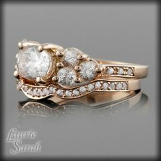 White Sapphire & 14kt Rose Gold  WOW!