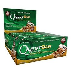 Quest Nutrition Quest Bars Peanut Butter Supreme 12 Bars Peanut Butter Supreme - Gluten Free Bar with High Quality Protein and No Added Sugar* Quest Bars, Quest Nutrition, Nutrition Bars, Carbs Protein, Protein Bars, Peanut Bar, Peanut Butter, Gluten Free Bars, Chocolate Chip Oatmeal
