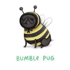 Little baby Bumble Pug is available for a pre order print now with guaranteed Christmas delivery! ✨ All prints are on a blackfriday…