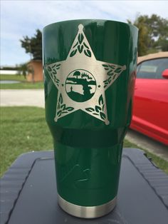 Florida Sheriff Custom Powder Coated Cups! No Stickers No Vinyl! 100% Powder Coat! Need a Cup, Hit me Up! The Cup Plug!
