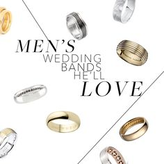 Brides.com: . While we could talk for days and days about your engagement ring and wedding band, we need to show your future hubby some love too.  A man's wedding band is by far his most important piece of jewelry he will own in his lifetime. It not only represents the love and commitment the two of you share, but the design he chooses also speaks volumes about his personality. Is he a classic prep? A medium-width platinum band is probably his best bet. How about artsy? Your fiancé might ...