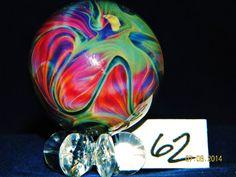 """NIKKI'S HANDMADE GLASS MARBLES #62 """" COLOR WHEEL """" #NIKKISERVINE #Glass"""