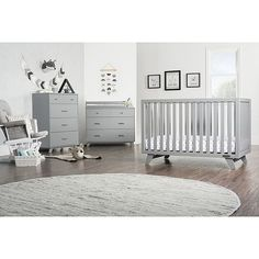 Grey Nursery Boy, Nursery Modern, White Nursery Furniture, Convertible Crib, Mid Century Modern Design, Crib Bedding, Furniture Collection, Bed Frame, Decorating Your Home