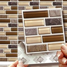 "STONE GLASS TABLET EFFECT WALL TILES: Box of 18 tiles Stick and Go Wall Tiles 4""x 4"" (10cm x 10cm) Each box of tiles will cover an area of 2 SQR. FT. NO CEMENTING NO GROUTING NO MESS! TILE OVER ANY SIZE OF TILE OR ONTO THE WALL. Adhesive Wall Tiles that cover the area underneath. Steam & Water Resistant with the look of Ceramic Tiles. An instant makeover for both Kitchens & Bathrooms. STICK AND GO TILES http://www.amazon.co.uk/dp/B00844SHH2/ref=cm_sw_r_pi_dp_owPiwb11V1QH0"
