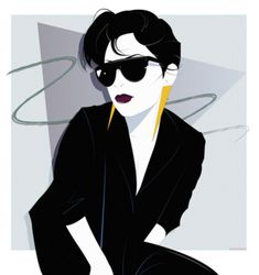Nagel Style - Patrick Nagel inspired Myself in the style of the ...