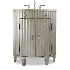 "Cole & Co. 30"" Designer Series Collection Kinkaid Vanity - Antiqued Platinum 