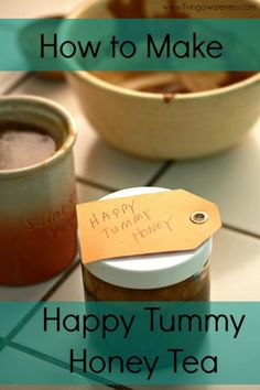 Learn how to use the spices in your spice rack to help with indigestion and stomach aches.  How to Make Happy Tummy Honey Tea