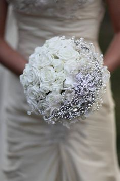cinderella style wedding bouquet by mathepplestone on Etsy | We Heart It