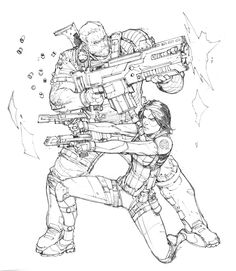Cable and Domino by Max-Dunbar on DeviantArt