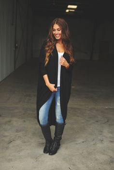 Long Open Cardigan, in black of course.