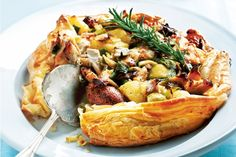 Chicken, Chorizo and Potato Pie - With this free-form pie recipe up your sleeve, dinner is a no-fuss affair and fantastic for the whole family. Pastry Recipes, Pie Recipes, Chicken Recipes, Cooking Recipes, Curry Recipes, Easy Cooking, Chorizo And Potato, Chicken Chorizo, Side Dishes