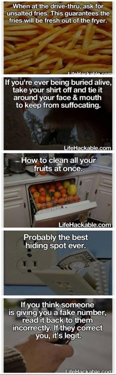 """These are the bestfake life hacks ever 😄 If you put your shirt over your face you'll suffocate 😄 But the best one was """"how yo clean all your fruits at once """"😄 Survival Life Hacks, Survival Tips, Survival Quotes, Simple Life Hacks, Useful Life Hacks, 25 Life Hacks, Funny Life Hacks, 1000 Lifehacks, Hacks Diy"""