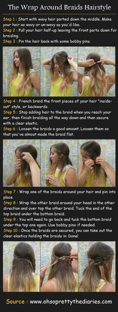 Wrap around braid hairstyle