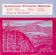 Smithsonian Folkways American Favorite Ballads- Vol. The Water Is Wide, Pete Seeger, Sally Ann, Big Sea, Mountain Music, Album Book, Folk Music, Cover Art, Album Covers