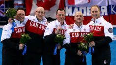 Brad Jacobs, E.J. Harnden, Ryan Fry, Ryan Harnden and Caleb Flaxey win Gold in Men's Curling in Sochi 2014