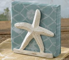 The Country Porch features the Starfish Luncheon Napkin Holder from Park Designs. Beach Cottage Style, Coastal Cottage, Beach House Decor, Coastal Style, Coastal Decor, Coastal Living, Coastal Farmhouse, Coastal Furniture, Beach Condo