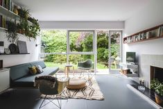 Check out this stunning retro renovation of a apartment in the Parkleys development in Richmond upon Thames, Surrey. Now up for sale too. New Homes, Modern Apartment, Apartment, Natural Flooring, House, Interior, Retro Renovation, Bright Living Room, Bungalow Renovation