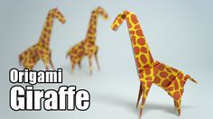 Origami Giraffe (Jo Nakashima)...have to try and make my favorite animal :)
