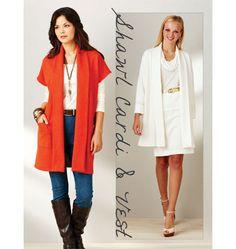 K3916 | Shawl Cardi & Vest | Jackets, Vests & Skirts | Kwik Sew Patterns