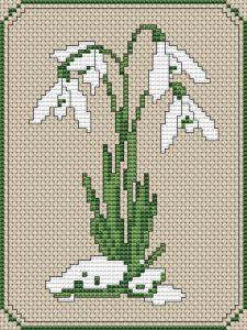 Snowdrops free cross stitch pattern from Alita Designs