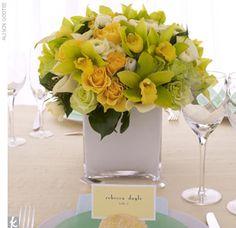 Lemon and mint #wedding flowers